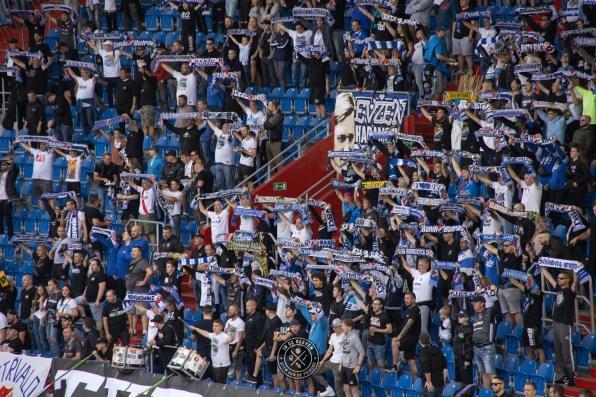 Ook de Ultras zijn aanwezig
