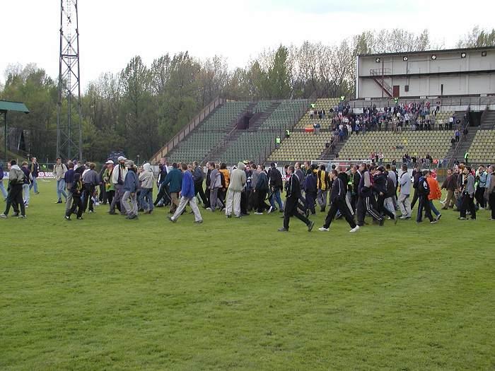 Op het veld tegen Wisla Krakau