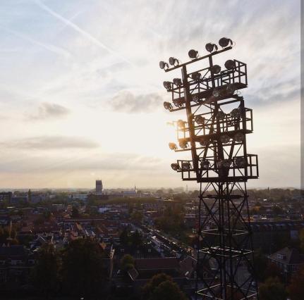 De Adelaarshorst nogmaals van dichtbij vanuit de lucht