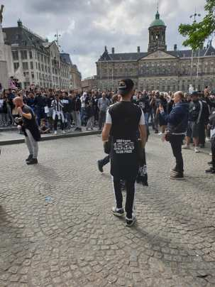 PAOK-supporters in Amsterdam.