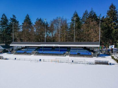 Drone foto van Sportpark Berg en Bos