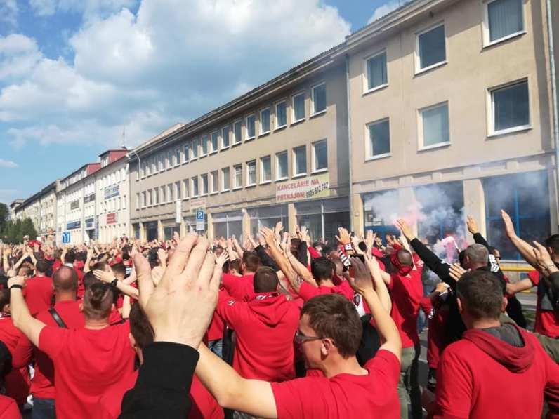 Supporters van Trnava in Nitra (via Michael).