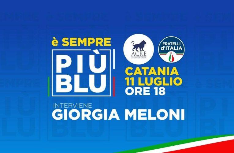 FdI e Giorgia Meloni domani ad Aci Castello
