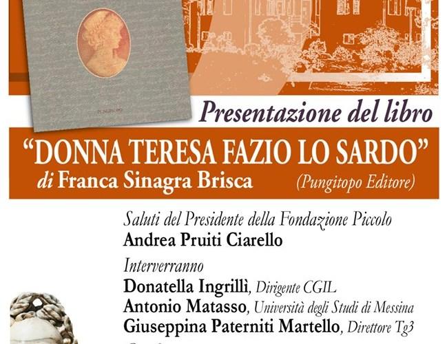 """Appuntamenti letterari a Villa Piccolo: """"Donna Teresa Fazio Lo Sardo"""""""
