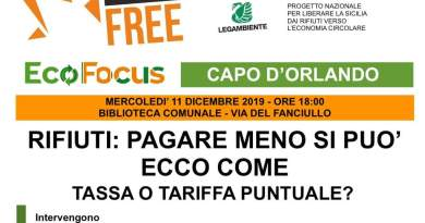 Eco Focus sui rifiuti, per fare il punto insieme ad esperti e sindaci del territorio