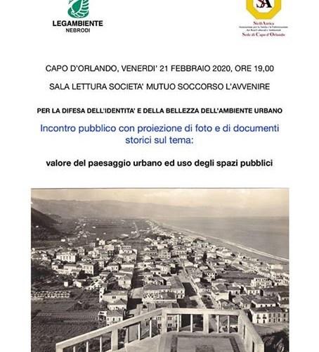 """Convegno sul tema: """"Valore del Paesaggio urbano ed Uso degli spazi pubblici""""."""