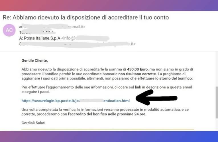 Phishing, attenzione alla falsa mail: l'allarme della Polizia Postale