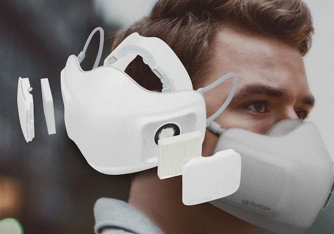 La mascherina LG purifica l'aria e rende più facile il respiro: tutti i dettagli