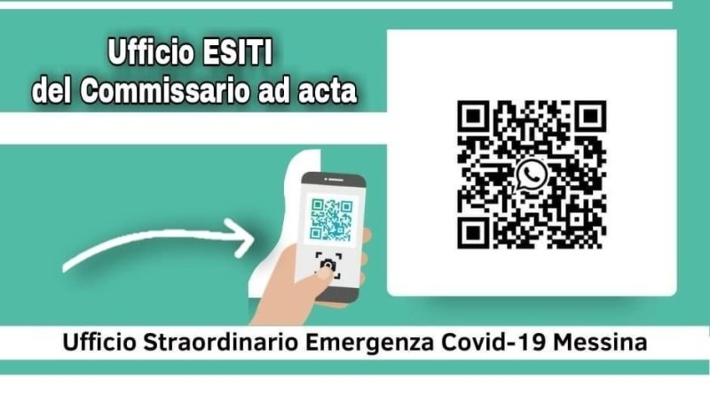 ASP Messina, l'esito dei tamponi via Whatsapp