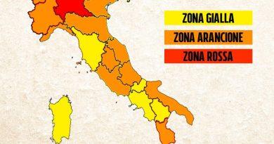 Zona rossa per Lombardia, Sicilia e provincia di Bolzano. Nove le regioni che passano in arancione. É ufficiale !