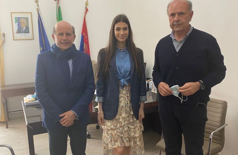 Il regista Rai Sciacca e miss Italia 2020 in visita a Milazzo