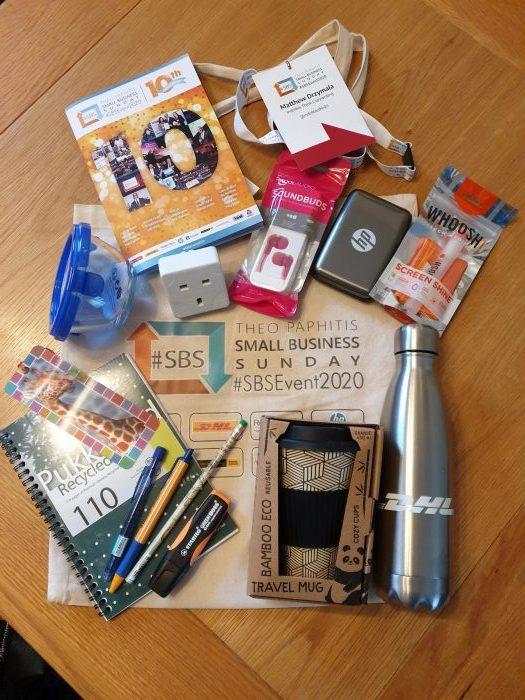 #sbsevent 2020 goodie bag, copywriter