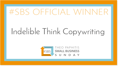 small business sunday winner, theo paphitis, Indelible think Copywriting
