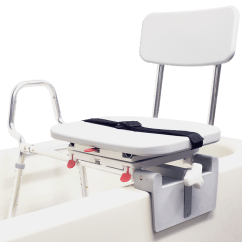 Shower Chair Vs Tub Transfer Bench Lawn Covers Home Depot Eagle Mount Swivel Sliding 77762 At Indemedical Com