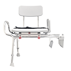 Shower Chair With Swivel Seat Classroom Covers Eagle Tub Mount Sliding Transfer Bench 77762 At
