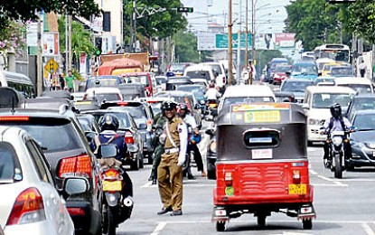 Heavy traffic in parts Colombo due to multiple protests