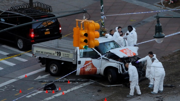 New York attack: Eight dead after truck plows into people