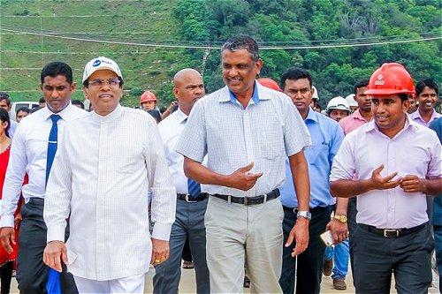 President makes observation visit to Moragahakanda Project