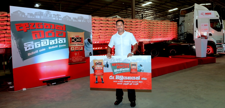 INSEE Cement Rewards Loyal Customer with Rs. 1 Million Worth of INSEE Sanstha Cement