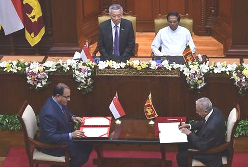 Singapore and Sri Lanka signed free trade agreement