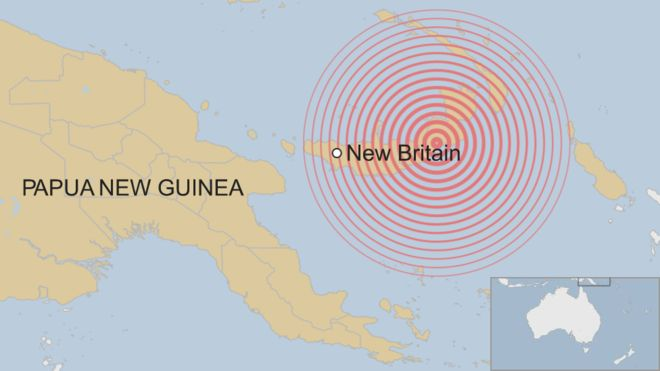 Papua New Guinea earthquake: Strong tremor off New Britain island