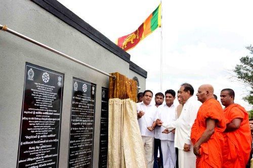 India develops Most Ven. Maduluwawe Sobitha Thero Village in Anuradhapura