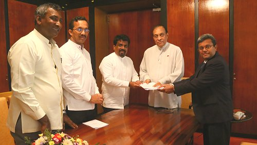 JVP hands over 20th amendment to Constitution to Speaker