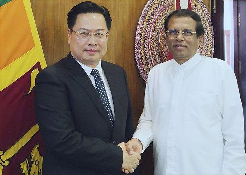 President looks to China for Sri Lanka's economic development