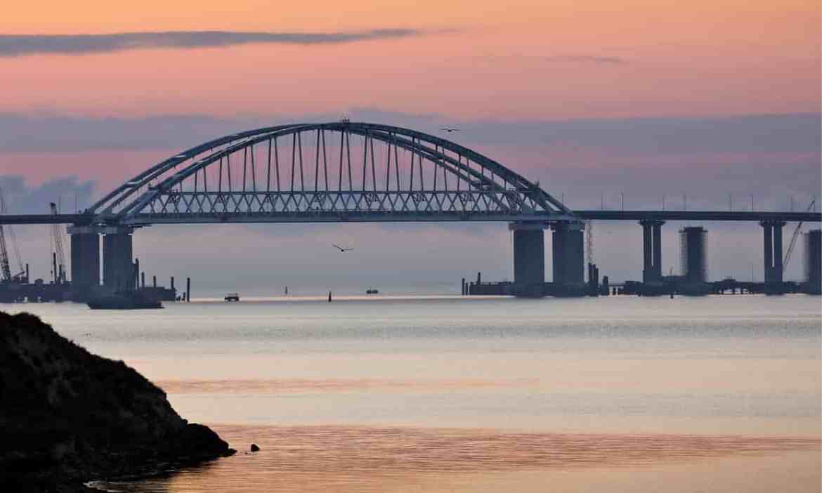 Putin opens 12-mile bridge between Crimea and Russian mainland