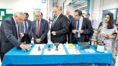 Minister Malik Samarawickrama visits high tech German engineering company in Katunayake EPZ in Sri Lanka