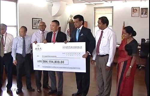Sri Lanka receives the US$ 584 mn third payment of Hambantota Port deal from Chinese company