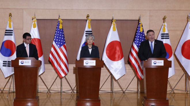 North Korea sanctions remain until complete denuclearisation, says US