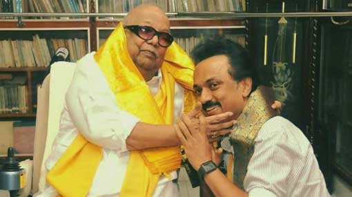 Stalin, Karunanidhi's son and political heir, elected DMK chief unopposed