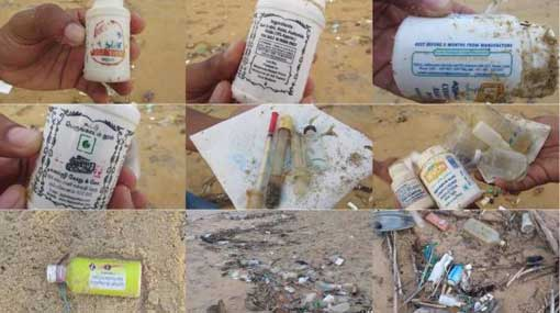 Clinical waste of India ends up on Puttalam coast