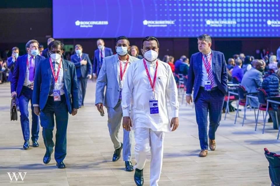 MP Weerawansa represents SL in St. Petersburg International Economic Conference