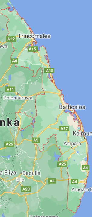Areas in the East province isolated