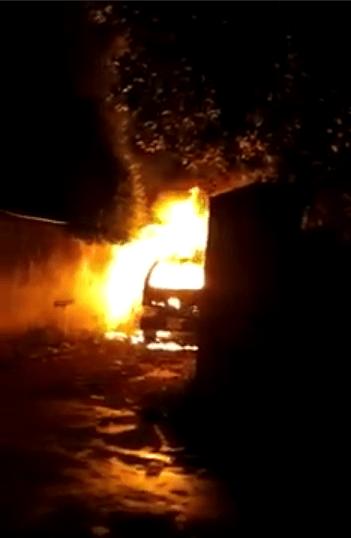 Burnt body found inside a car in Kohuwala