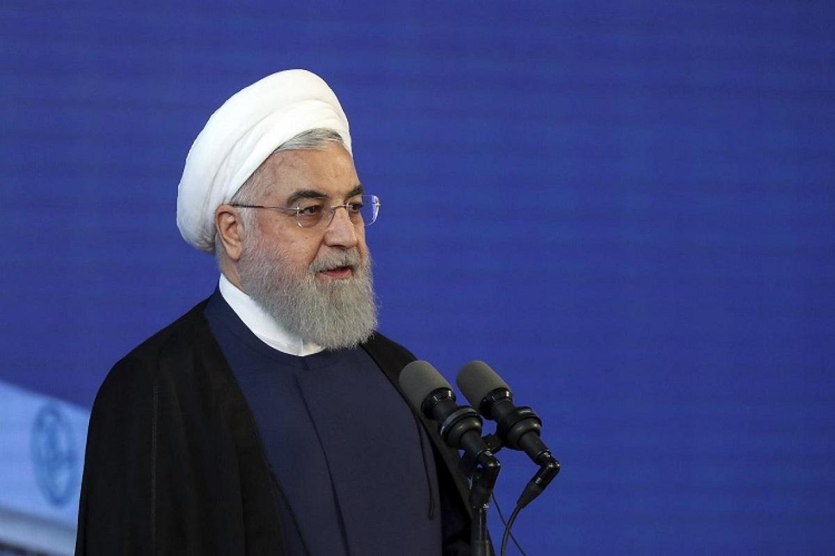 أعلن الرئيس الإيراني حسن روحاني للمرة الأولى خفض التزامات بلاده بالاتفاق النووي في 8 مايو الماضي (أ.ب.).jpg