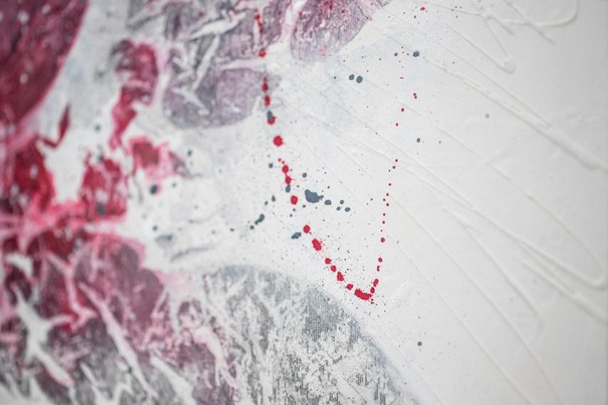 Elisa Madeo, Neuroreabilitation 13, Tecnica mista su tela deep edge, 120x120x4,5cm, 2019 particolare