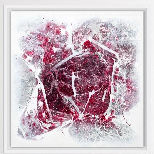Elisa Madeo, Neuroreabilitation 13, Tecnica mista su tela deep edge, 120x120x4,5cm, 2019