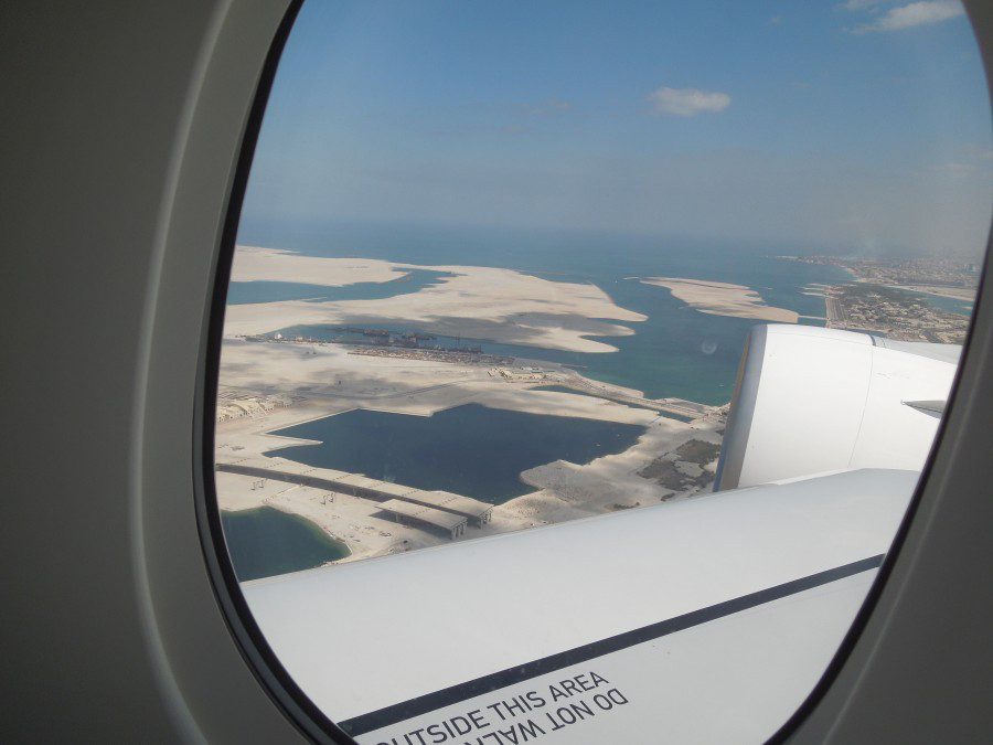 view from the plane, dubai