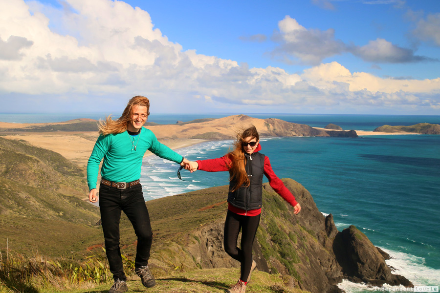 Cape Reinga, travel couple, blog, New Zealand, Travelers