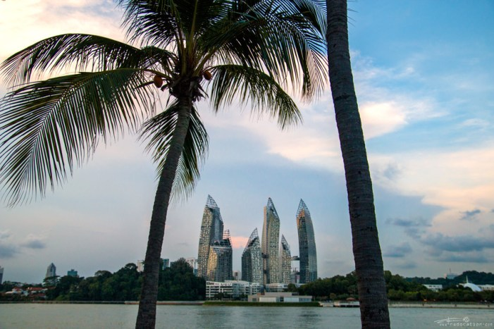 View of the ever-developing Singapore from Sentosa Island. Photo by Radoslav Cajkovic.