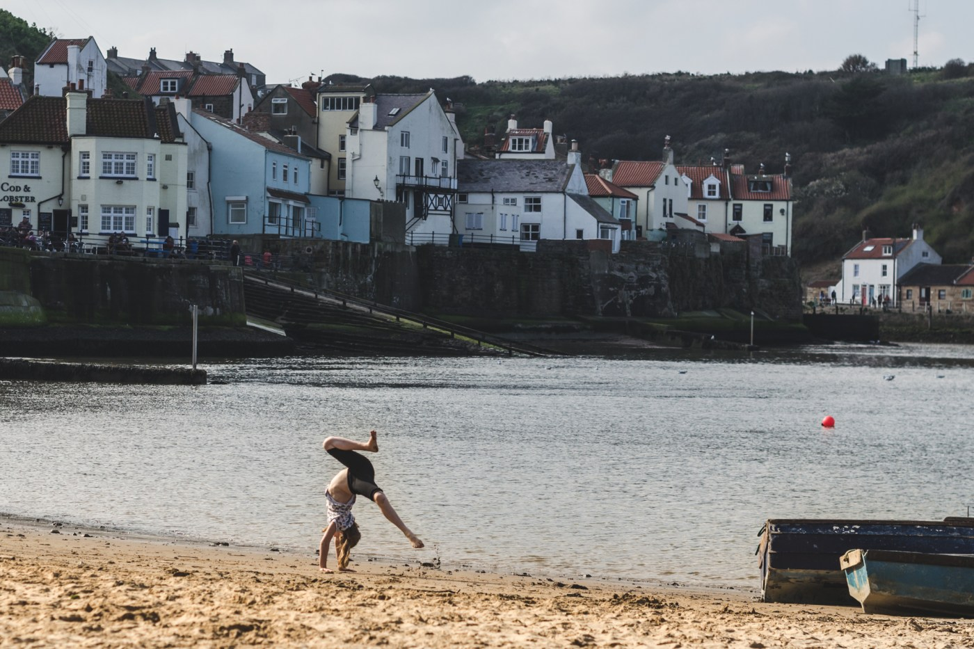 Beach in Staithes, Yorkshire, England
