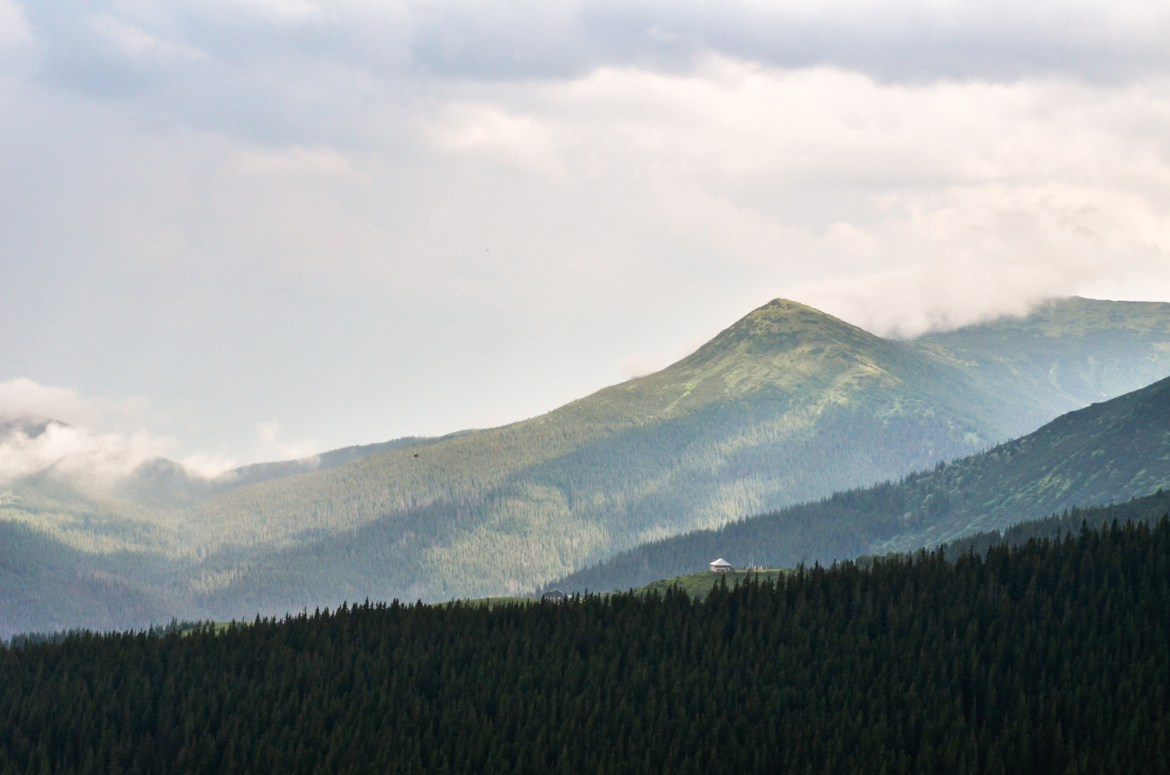 The Carpathian Mountains in Ukraine