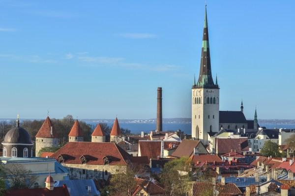 Estonia: Tallinn Old Town Panorama