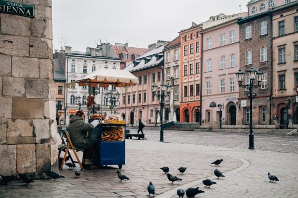 krakow street poland