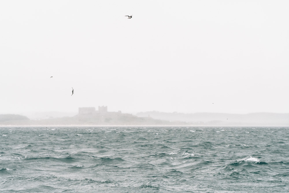 england northumberland islands farne sea castle fog