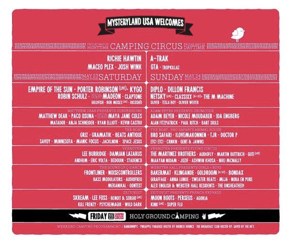 mysteryland 2015 line-up