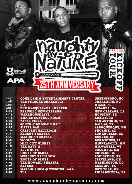 naughty by nature tour poster